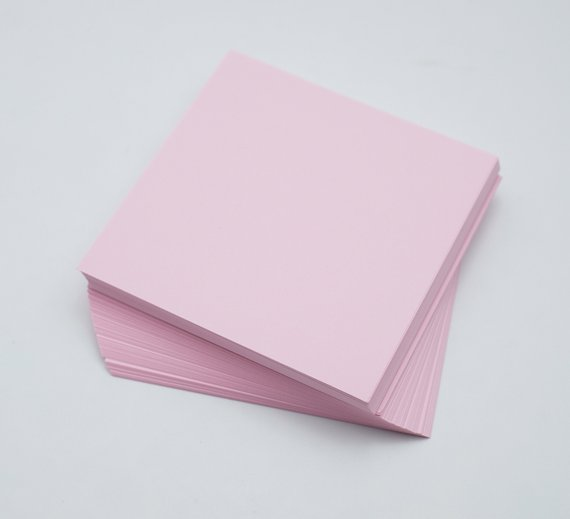 2-100 Origami Paper Sheets Pink Paper Pack 3 inch Origami Paper Crane