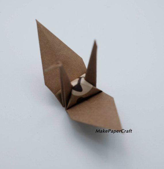 2.Origami Paper Sheets Brown Bear Paper Pack Size 9 x 9 cm 48-50 sheets Origami Paper Crane