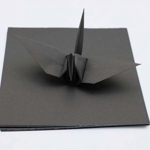 Origami Paper Sheets Black -1