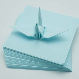 Origami Paper Sheets Light Blue-4