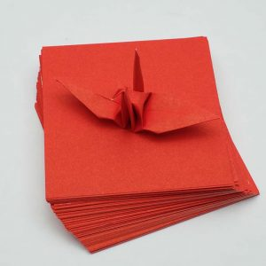 Origami Paper Sheets Red-3
