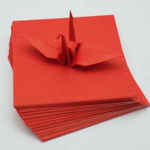 Origami Paper Sheets Red-4