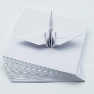 Origami Paper Sheets White -3